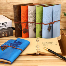 Retro Leaf A5 A6 A7 Diary Notebook Agenda Faux Leather Cover Filofax Notebook For School Office Korean Stationery Travelers Gift