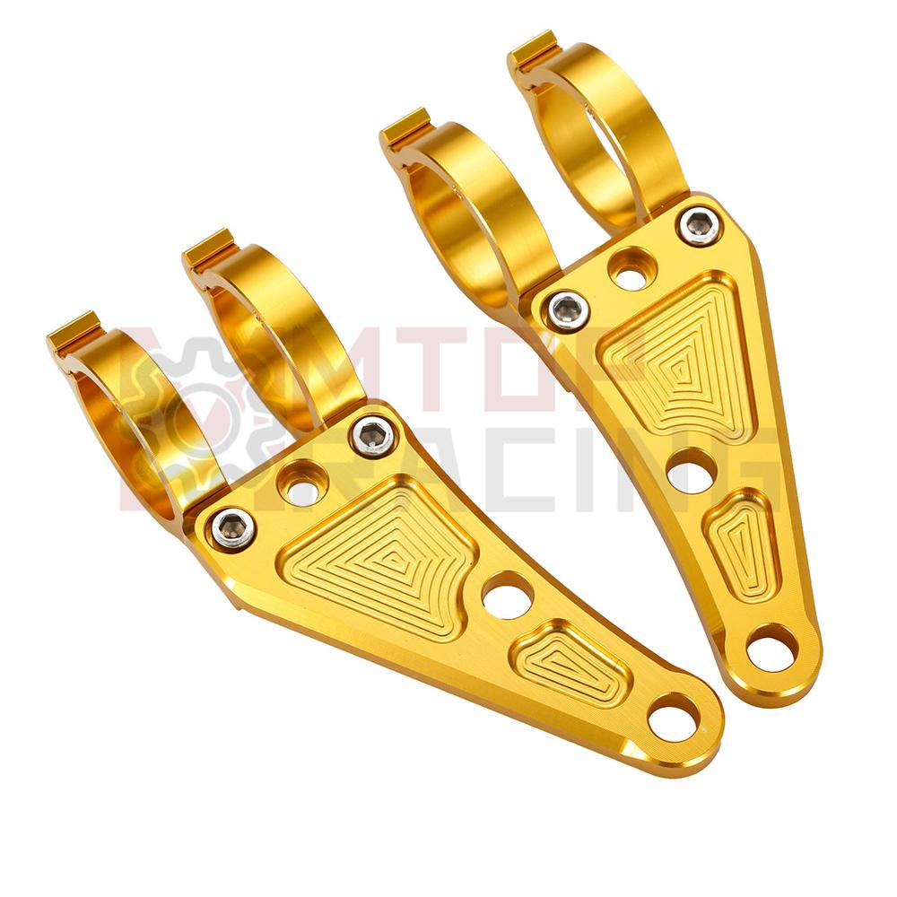 Motorcycle Headlight Mount Bracket CNC Gold 30mm 33mm 35mm 37mm 38mm 39mm 41mm 43mm 45mm 46mm 48mm 49mm 50mm Fork Tubes