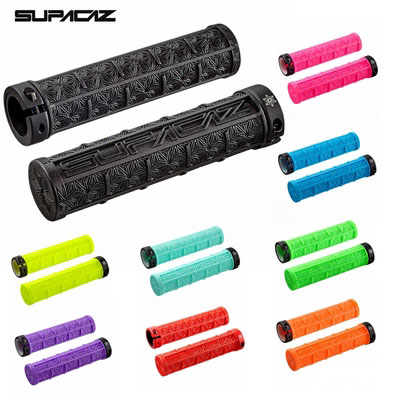 Supacaz MTB Bicycle Handlebar Grips Set Silicone Set Off-road Single-sided Lock Shock Absorption Anti-skid Hold Grips 9 Colors