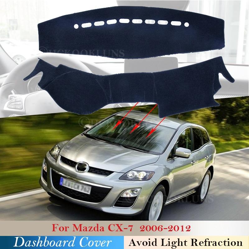 Крышка приборной панели защитная накладка для Mazda CX 7 2006 ~ 2012 автомобильные аксессуары приборная панель солнцезащитный козырек анти УФ ковер 2008 2009 2010 2011|Наклейки на автомобиль|   | АлиЭкспресс