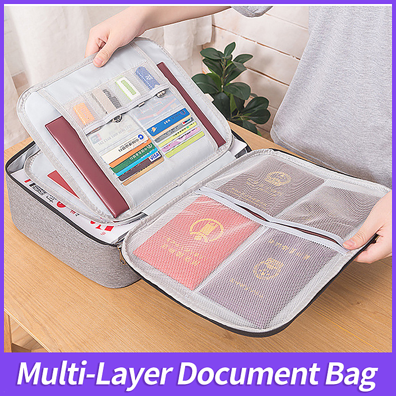Document Ticket Bag Large Capacity Certificates Files Organizer For Home Travel Important Items Folder Storage Bags Supply