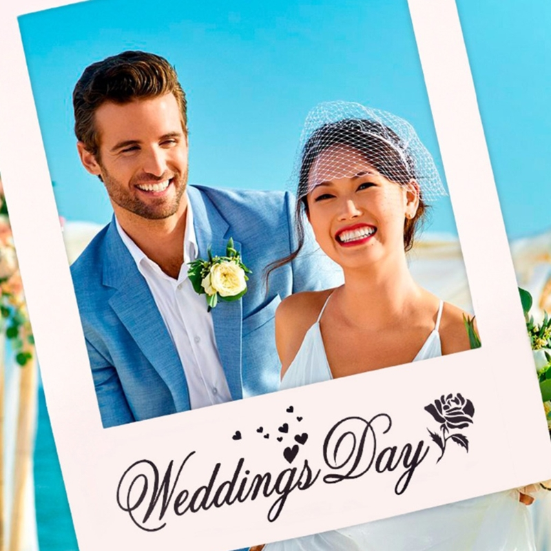 Wedding Favors DIY Anniversary Photo Frame Props Photo Booth Party Decoration X4YD - 2