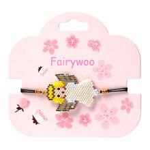 Fairywoo богемные Милые Браслеты с ангелом женские новые модные