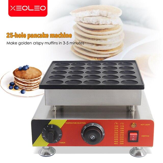 XEOLEO 25 delik gözleme makinesi 800W Dorayaki maker yapışmaz Poffertjes makinesi Mini Dorayaki izgara Mini kek üreticisi
