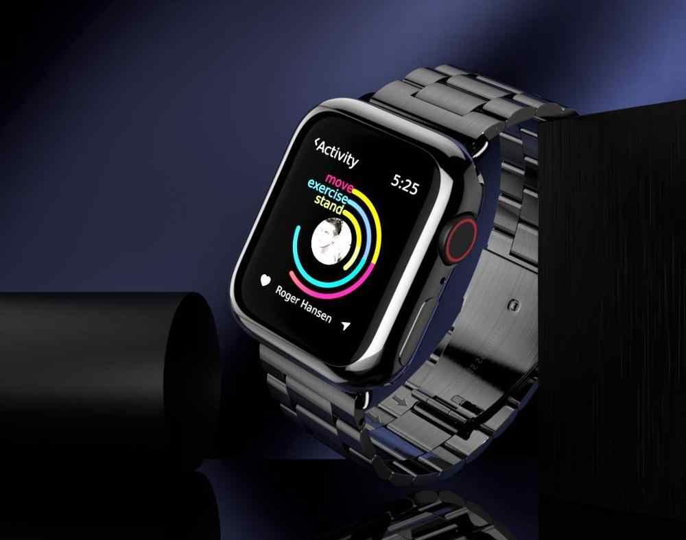 Correa de acero inoxidable para Apple Watch 5 4 3 2 1 banda 38mm 42mm pulsera deportiva para iWatch serie 5 4 3/2/1 40mm 44mm Correa