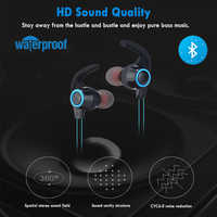 NEW Magnetic Wireless Bluetooth Earphone Stereo Sports Waterproof Earbuds Wireless In-ear Headset With Mic For IPhone 7 Samsung
