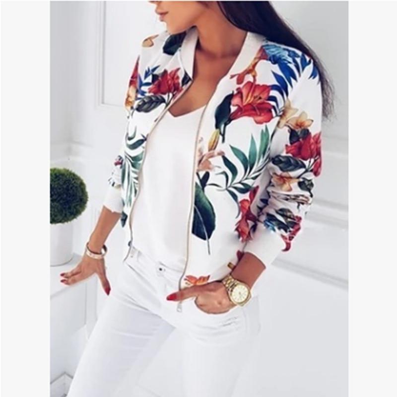 H3a1a2e0ff52d42beac7c97cfb536a806d Woman Coat Plus Size Printed Bomber Jacket 2020 Women Pockets Zipper Long Sleeve Coat Female Flower Chiffon White Jacket Woman