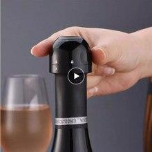 Rolha de champanhe vácuo tampa de garrafa de vinho tinto rolha de silicone selado garrafa de champanhe vácuo reter frescura plugue do vinho