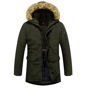 Men's Winter Fleece Military jacket Windbreaker Wool Liner Overcoat Jaqueta Masculina Men Fur Hooded Snow Parka Coats L-4XL