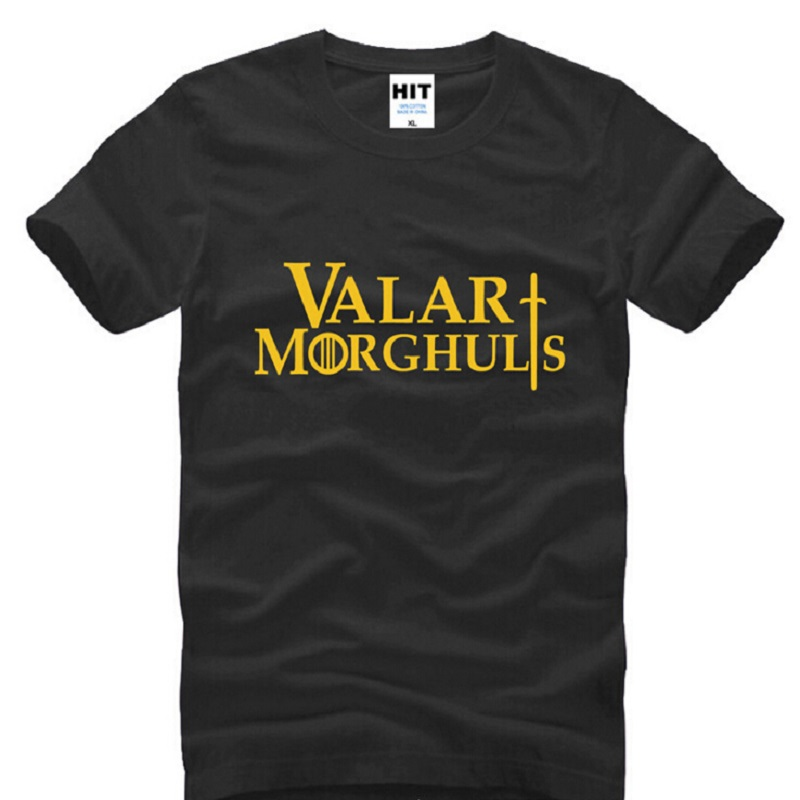 Valar Morghulis Shirts Game of Thrones Men T Shirts Summer Short Sleeve T Shirt A Song OF Ice And Fire T-shirts image
