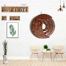 2021 Wooden Hanging Perpetual Calendar Rotatable Circular Hand-Carved Adjustable Family Birthday Reminder Calendar Sign Board