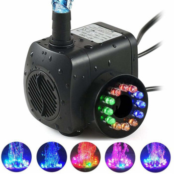 Led Pool Rgbw Submersible Water Pumps for Aquarium Fish Tank Garden Pond Statuary Outdoor Fountain Pump with 12leds Lights 220V 15w submersible water pump with led light for garden aquarium fish tank pond fountain pump
