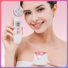 MISMON 306C Beauty Machine 5 IN 1 RF EMS LED Mesotherapy Skin Care Tool Facial Photon Rejuvenation Anti-aging Lift Face Massager