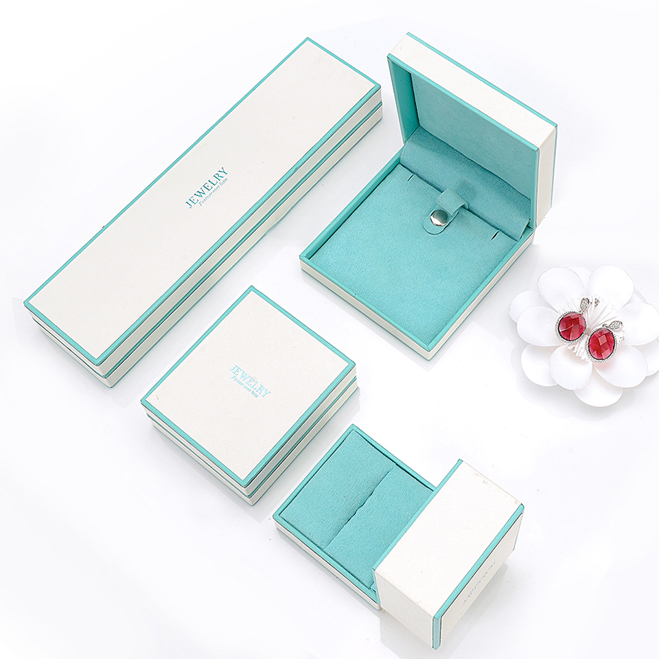 UMCHO Fresh And Simple Style Jewelry Box Gift Box White Color Rings Earrings Necklace Bracelet Box Wedding Ring Jewelry Display