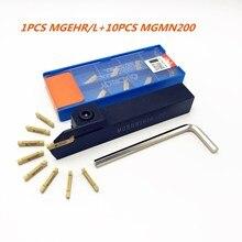 MGEHR2020 2 1010 2 1212 2 1616 2 2525 2 hss ferramenta titular torno exterior grooving ferramenta titular + 10 pces mgmn200 entalhado ferramentas de gerencio