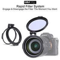 Uurig sistema de filtro rápido liberação rápida flip bracket interruptor lente clipe 77 82 67mm para sony canon nikon dslr câmera acessórios