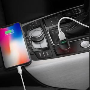 Image 5 - BlitzWolf 18W הכפול QC3.0 USB יציאת מיני מהיר טעינת מטען לרכב עבור iPhone 11 פרו XS/Xiaomi/pocophone F1 נייד טלפון