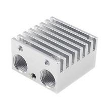 Multi-Extruder Aluminum Alloy Double-Headed Heat Sink Dual-Color Mixed-Colored Nozzle Heat Sink All Metal Upgrade DIY Extruded A(China)