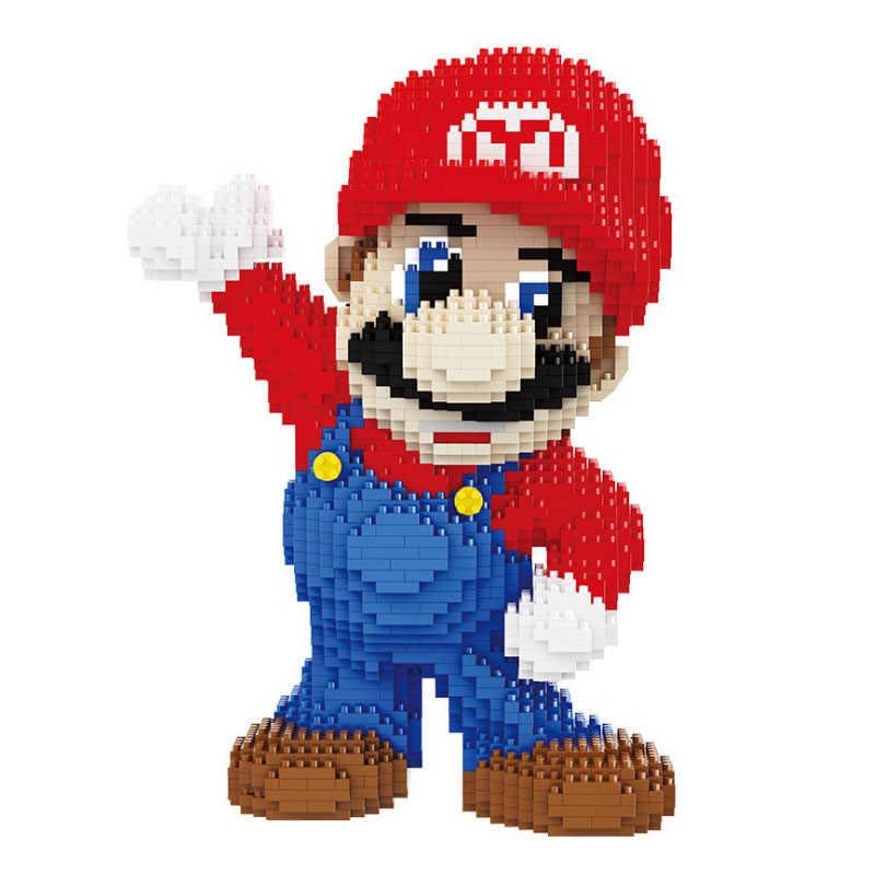 Monte karikatür figürü kitleri süper Mario yapı taşları modeli oyuncaklar eğitim modeli tuğla oyuncaklar çocuk hediyeler için