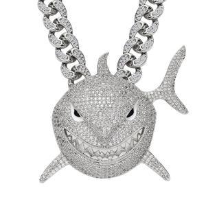 6ix9ine big size shark pendant