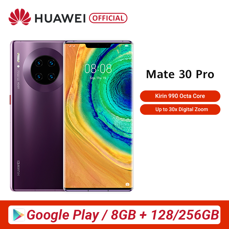 Huawei Mate 30 Pro 8GB 128GB 256GB Smartphone 40MP Triple Cameras 32MP Front Camera 6.53'' Full Screen Kirin 990 27W Wireless QC