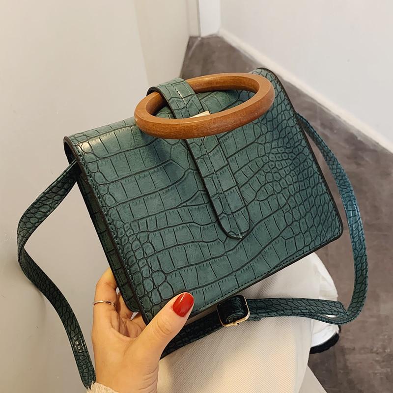 Stone Pattern Square Tote Bag 2020 Fashion New High Quality PU Leather Women's Designer Handbag Vintage Shoulder Messenger Bag