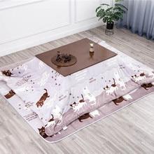 4 шт./компл. набор Kotatsu 1 стол 2 футон 1 обогреватель Скандинавский дизайн дубовая древесина японская мебель гостиная повседневная с подогревом татами стол