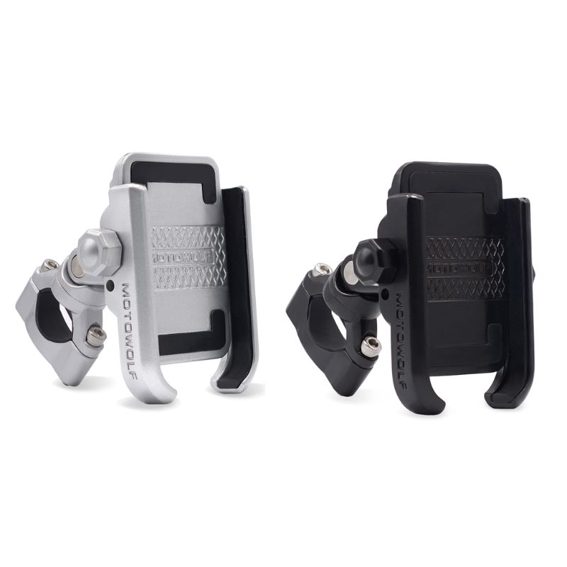360 Degree Universal Bike Aluminum Alloy Motorcycle Motorbike Handlebar Phone Holder Stand Mount For IPhone Xiaomi Samsung 4-6.4