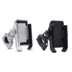 Image 1 - 360 grad Universal Bike Aluminium Legierung Motorrad Motorrad Lenker Telefon Halter Stehen Halterung Für iPhone Xiaomi Samsung 4 6,4