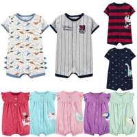 2020 verão bebê meninos roupas de algodão macacão manga curta roupas menino para bebê menino corpo ternos, 0-24 m crianças macacão