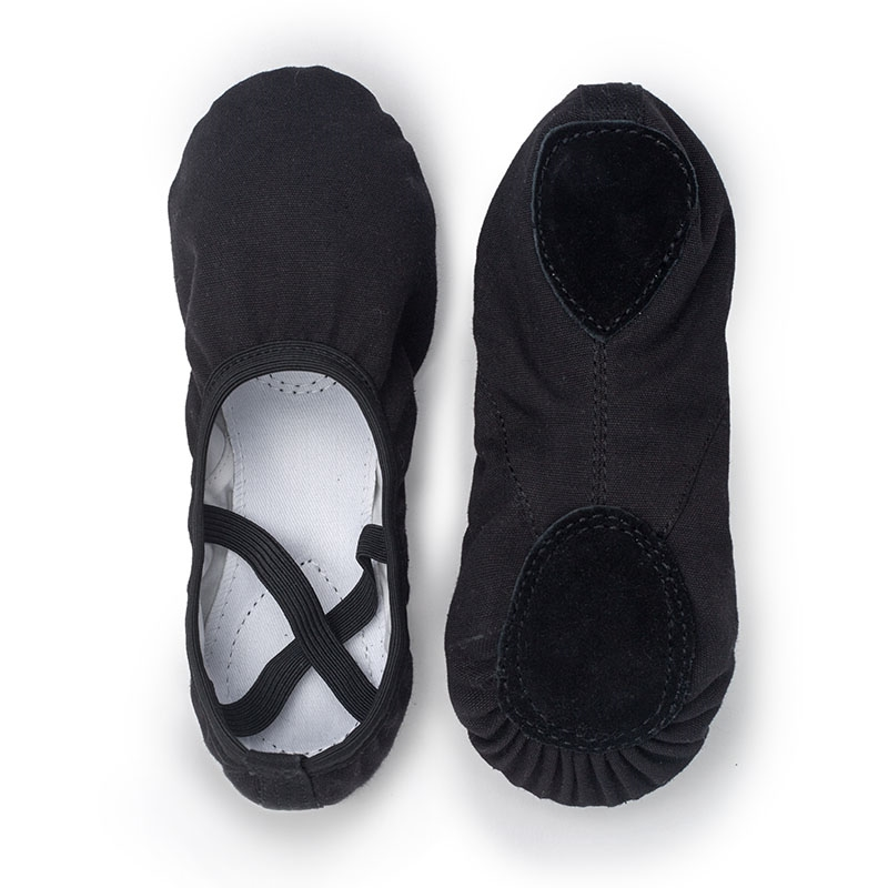 USHINE Quality Full Rubber Band Indoor Exercising Shoes Yoga Slippers Gym Children Ballet Dance Shoes Girls Woman Kids Ballerina