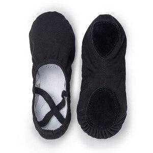 Image 3 - USHINE weiß qualität volle gummiband Ausübung Schuhe Yoga Hausschuhe Gym Kinder Ballett Tanz Schuhe Mädchen Frau Kinder ballerina
