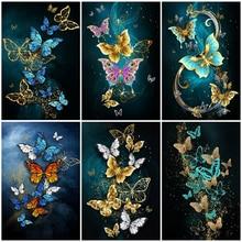 5D DIY Diamond Painting Butterfly Full Diamond Embroidery Animal Kit Cross Stitch Rhinestone Mosaic Art Home Decoration Gift