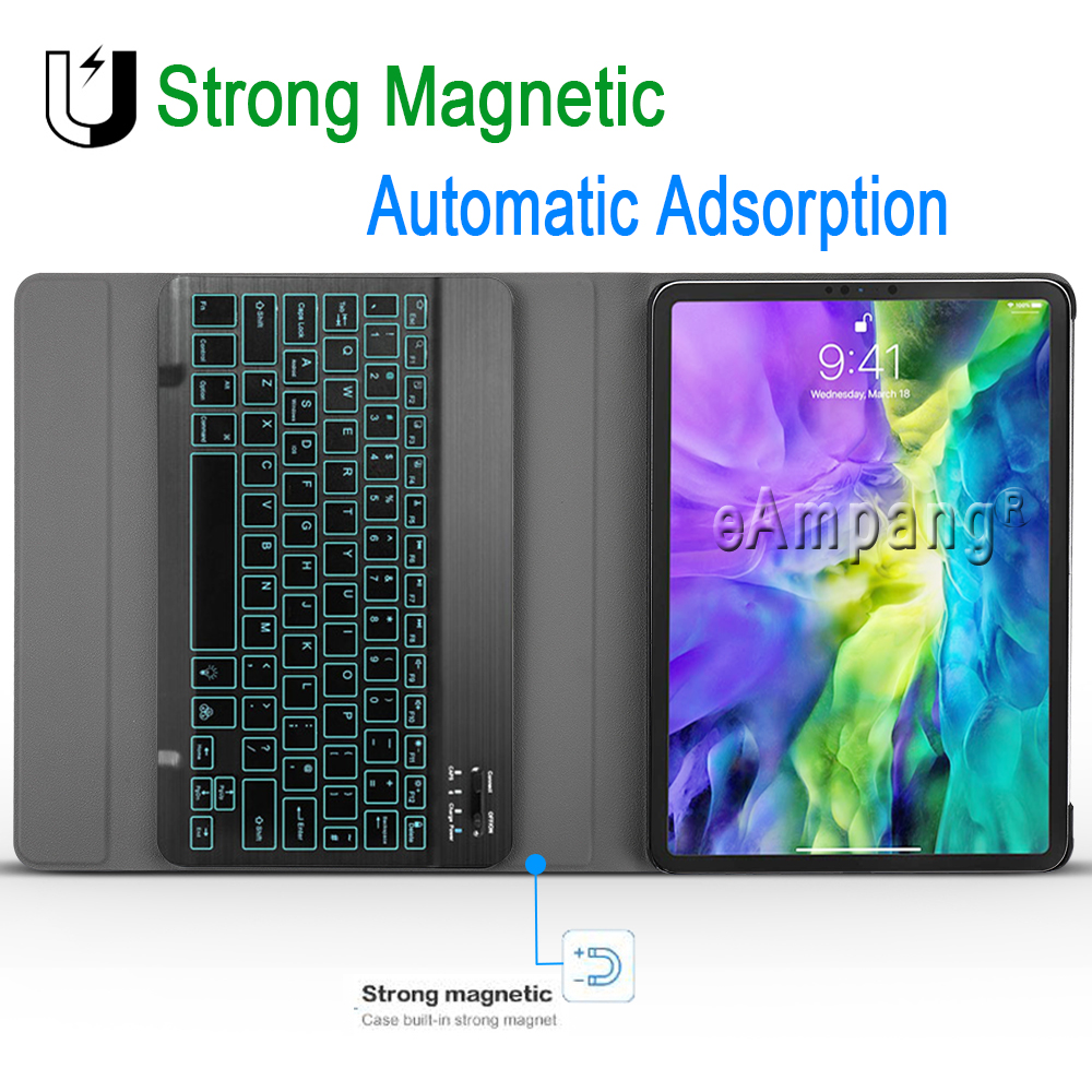 Slim 7 Color Backlit Keyboard for iPad Pro 11 2020 Keyboard Case Keyboard for Apple iPad