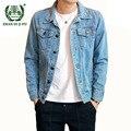 Мужская джинсовая куртка  весенне-осенняя  повседневная  облегающая  из хлопка  2018  M-4XL