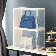 Handbag Bag Storage Box Thick Plastic Shoe Boxes Dust-proof Foldable Storage Bin Cabinet Stacked Finishing Box Cabinet Organizer 39 drawers storage cabinet tool box chest case plastic organizer toolbox bin