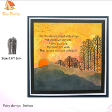 forest scene Transparent Clear Silicone Stamp/Seal for DIY scrapbooking/photo album Decorative tree clear stamp
