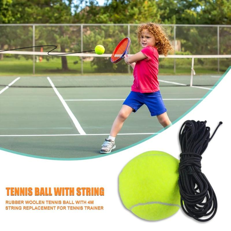 Tennis Balls Classic Delicate Texture Rubber Woolen Training Tennis Ball With String Replacement For Tennis Trainer