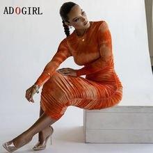 Многослойное платье adogirl с длинным рукавом женское облегающее