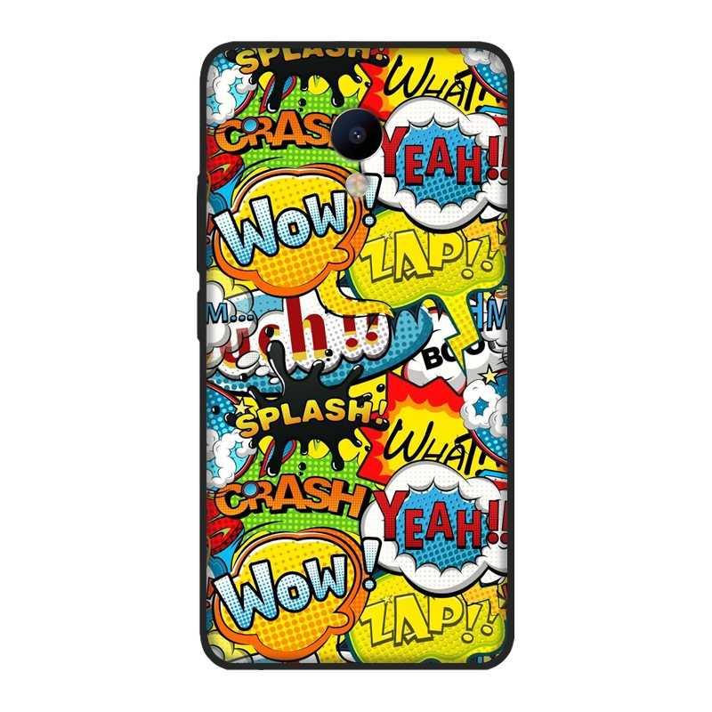 Coque de téléphone Pour Meizu M6 M6S M6T M5 M5C M5S M3 M3S M2 D'anime Doux Graffiti Couverture Peinte Pour Meizu M2 M3 M5 M6 Note Étui En Silicone