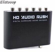 الرقمية 5.1 محلل شفرة سمعي SPDIF محوري إلى RCA DTS AC3 مضخم رقمي بصري التناظرية محول مكبر للصوت HD الصوت راش