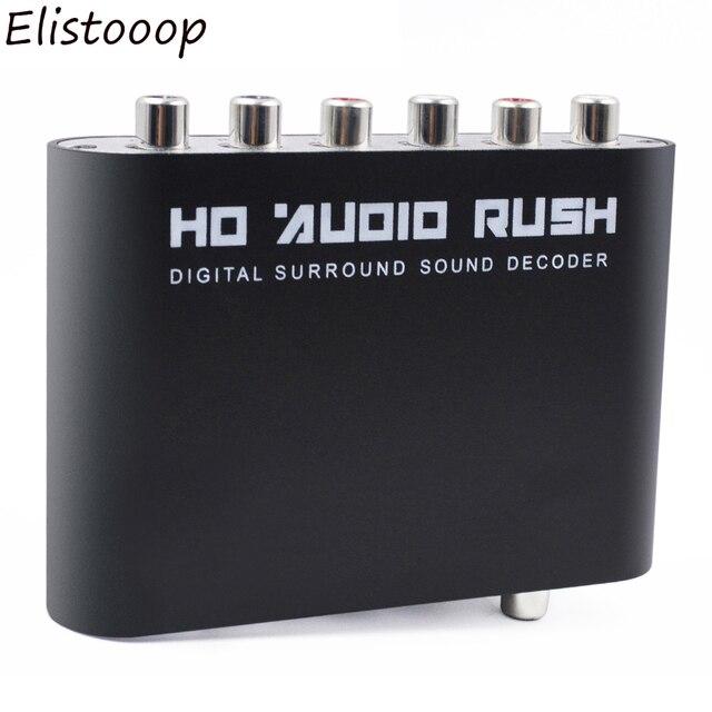 Cyfrowy dekoder dźwięku 5.1 SPDIF koncentryczny na RCA DTS AC3 optyczny wzmacniacz cyfrowy analogowy wzmacniacz konwertera HD Audio Rush