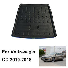 For Volkswagen CC 2010-2020 2019 2018 2017 Auto Car Rear Boot Cargo Liner Tray Trunk Luggage Floor Carpet Mats Carpets Pad Mat(China)