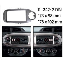 รถวิทยุสเตอริโอกรอบแผงDash Mount Kitสำหรับ2012 Toyota Yaris Vitz