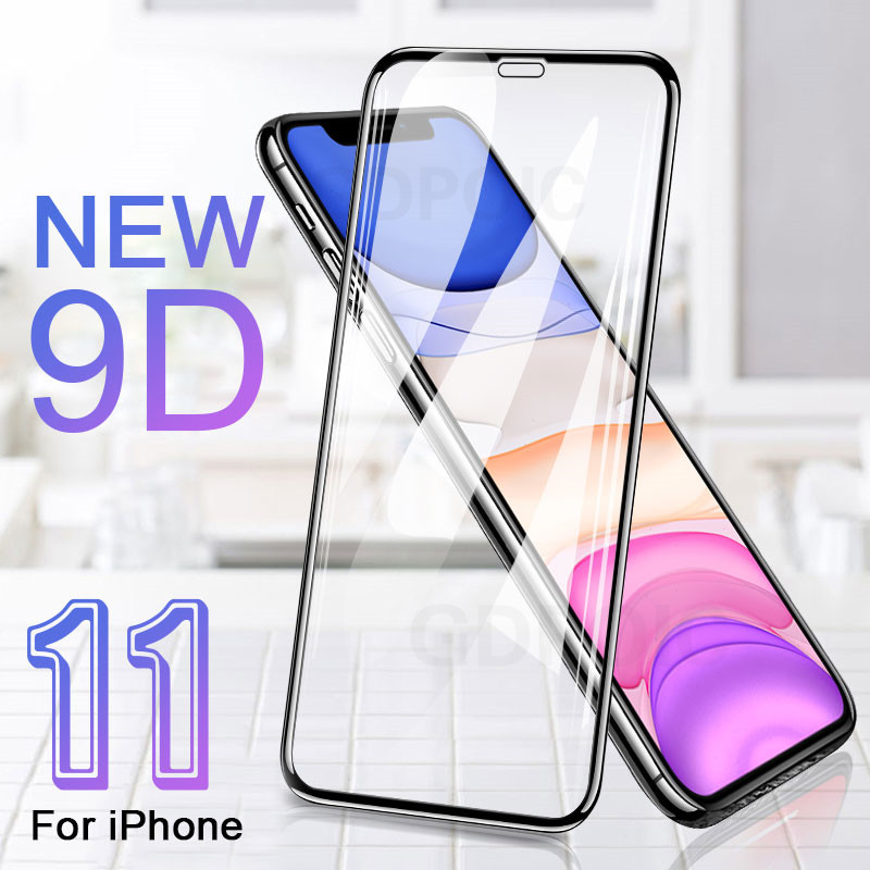 9D Protective Tempered Glass On The For IPhone 6 6s 7 8 Plus X Screen Protector Film Soft Edge For IPhone 11 Pro XR XS MAX Glass