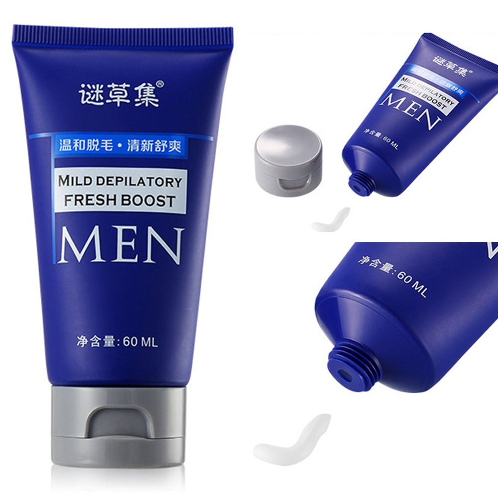 Men Hair Removal Cream Depilatory 60ml For Chest Back Legs Arms Mild Growth Inhibitor