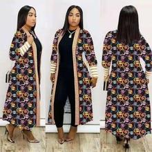 2020 Африка одежда Новый плащ пальто Африканский Riche Bazin платье для женщин сексуальный кардиган плащ одного пальто