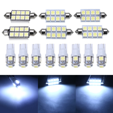 14pcs/set Super White LED Interior Light Bulb Kit Map Dome License Plate Trunk/Cargo Lights For Dodge Ram 1500 2500 2002-2011 цена в Москве и Питере