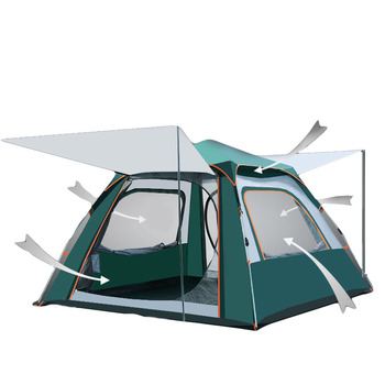 ultralight outdoor carpa inflable 3-4 people pop up tent beach automatic tent camping anti rain ventilated waterproof dome tents zenph children s camping tent outdoor indoor dual use tent automatic speed open tents automatic hiking beach tents barraca