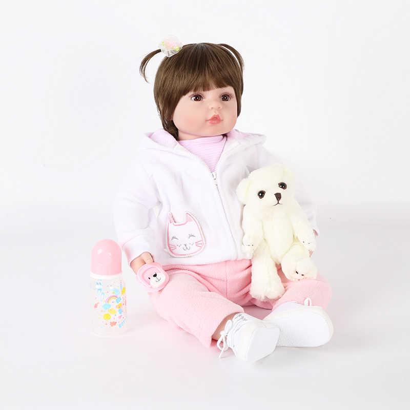 Forrsdor 58 centímetros macio Vinil bebê reborn renascimento LOL bonecas DIY bonito bebe boneca presente de aniversário e de natal corte pouco urso de brinquedo